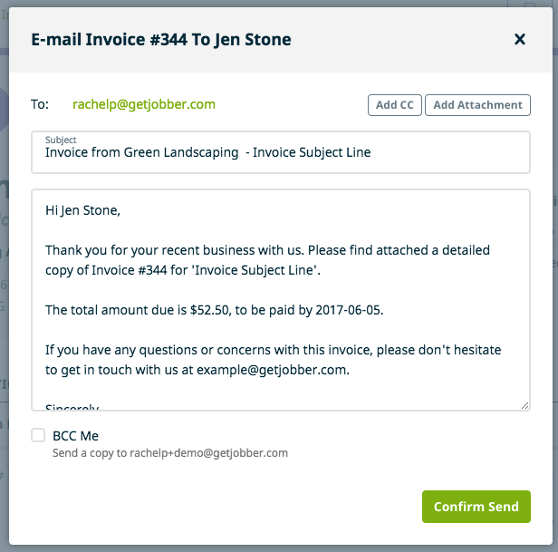 Emailing An Invoice To A Client  How To Invoice A Client
