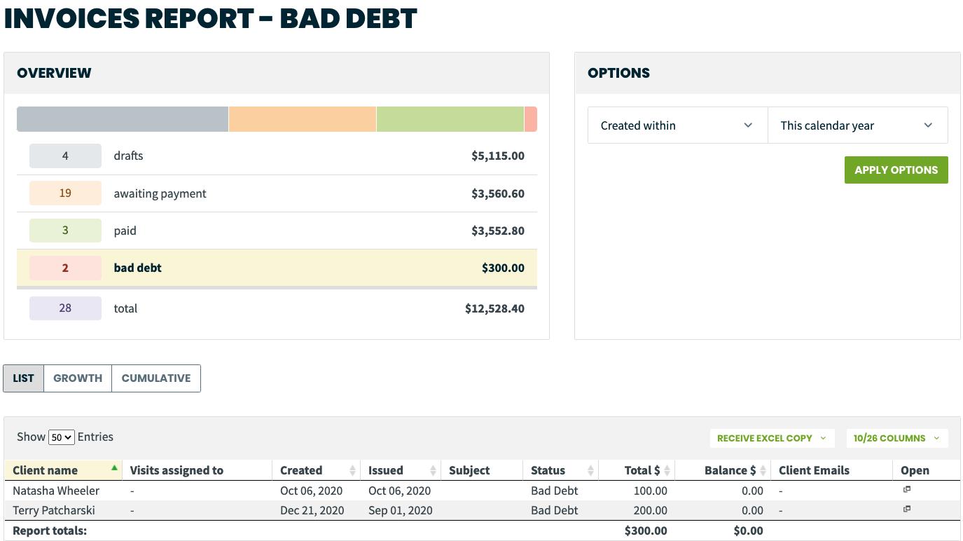 bad debt  jobber help center