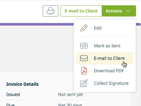 Sending Invoices To Clients Jobber Help Center - Email invoice to client