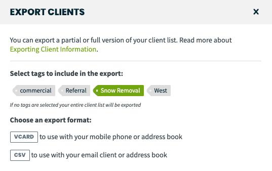 Exporting Client Information – Jobber Help Center