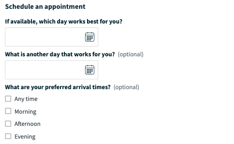 New Request scheduling section