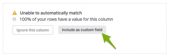 button to include column as custom field