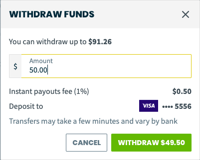 withdraw funds options