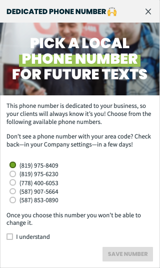 list of available phone numbers