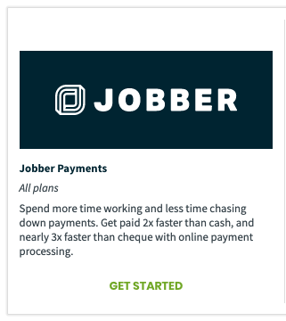Jobber Payments in the app marketplace
